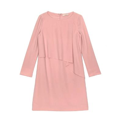 chest draped dress pink